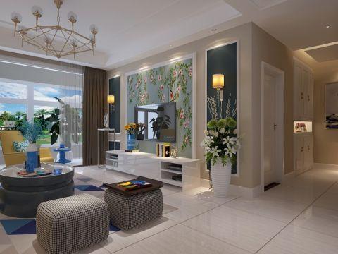 2020田园90平米效果图 2020田园二居室装修设计