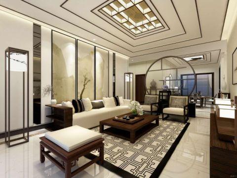 2020新中式120平米装修效果图片 2020新中式套房设计图片
