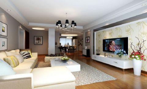 客厅照片墙新古典风格效果图