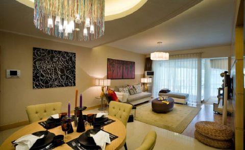 上海华丰格兰郡120平米现代简约风格三居室装修效果图