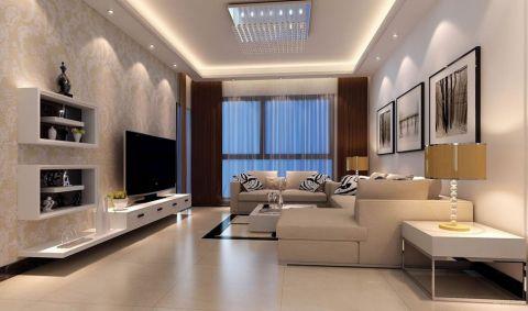 建城丽都116平米现代风格三居室装修效果图