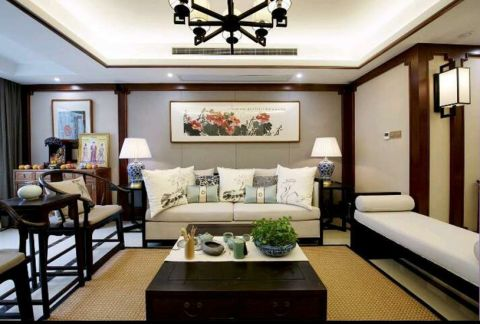 万科里金域国际新中式风格四居室装修效果图