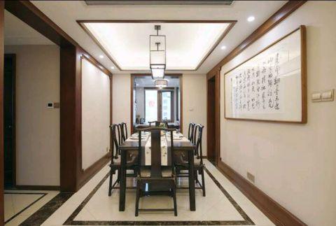 餐厅走廊新中式风格装潢图片