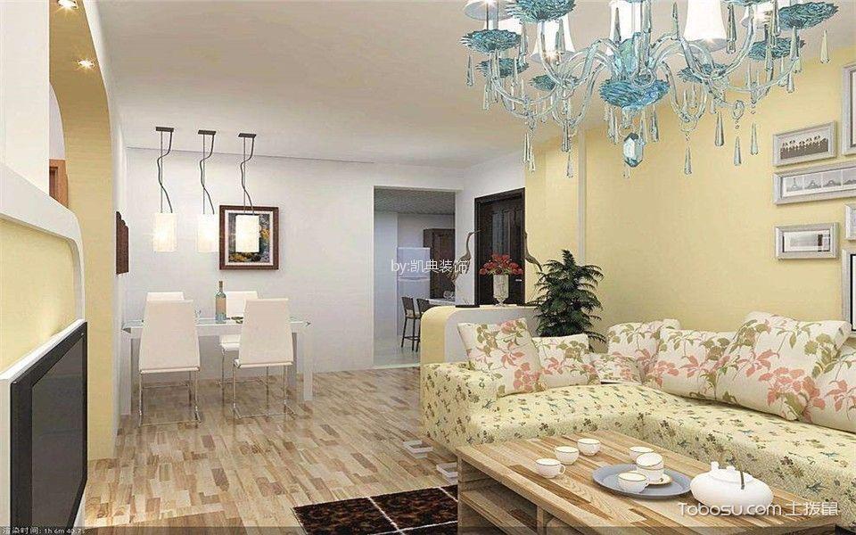 雨花客厅44平米简约风格2室装修效果图
