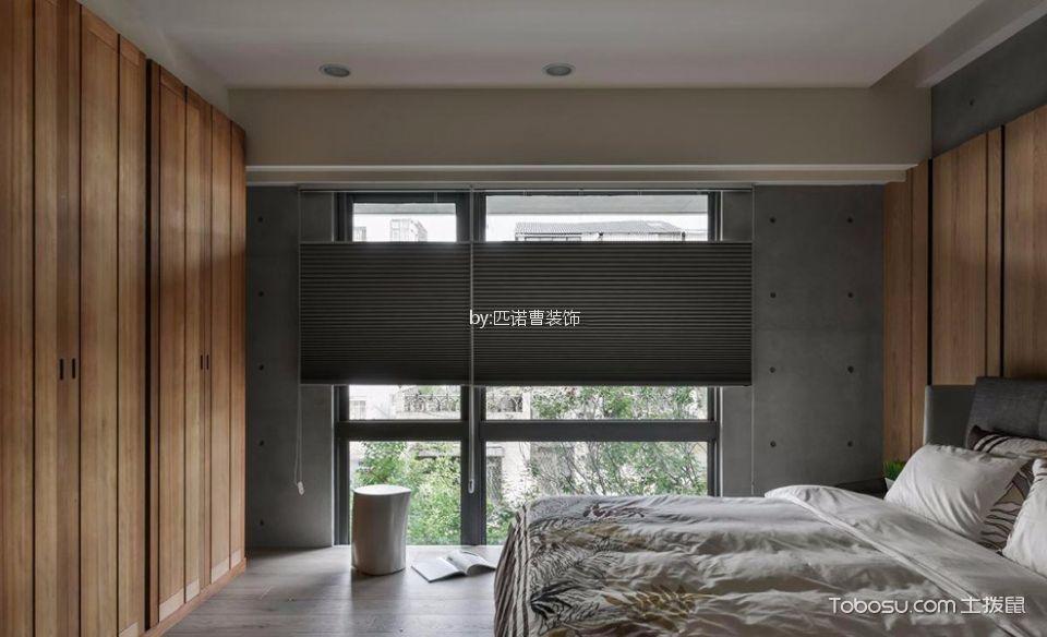 卧室黑色窗帘简约风格装饰效果图