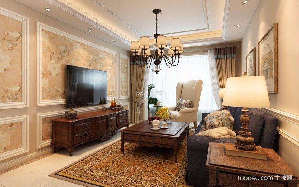 阜成路8号院140平美式三局室装修效果图