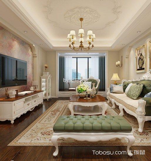 九扬香郡美式风格三居室装修效果图