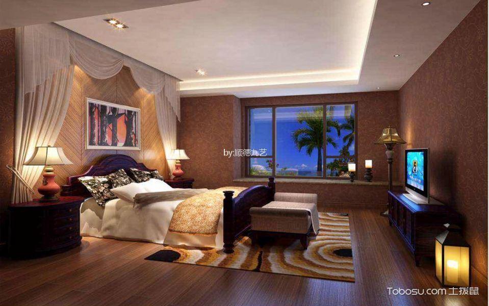 新中式风格320平米别墅新房装修效果图