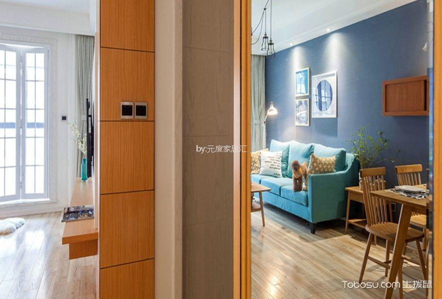 中大君悦金沙120平现代简约风格二居室装修效果图