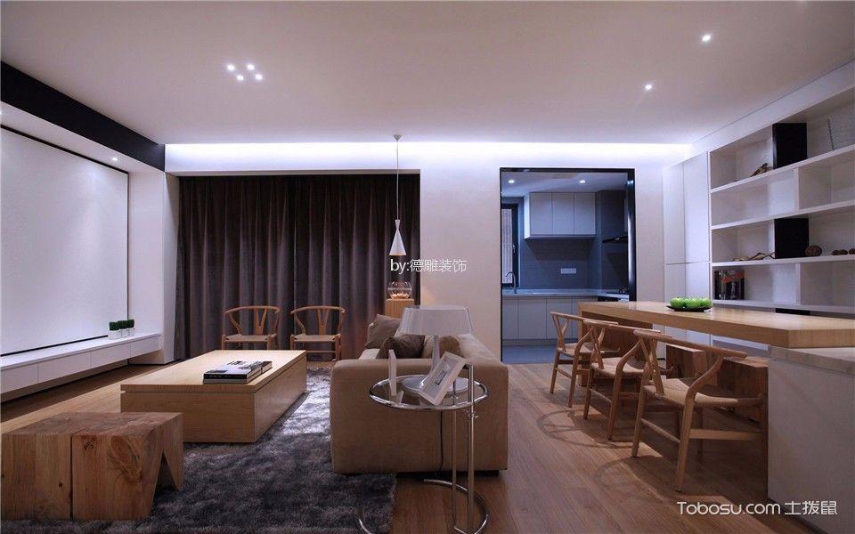 闽江世纪城120m²现代简约风格三居室装修效果图