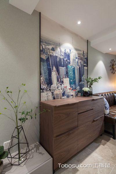 客厅白色细节简约风格装饰效果图