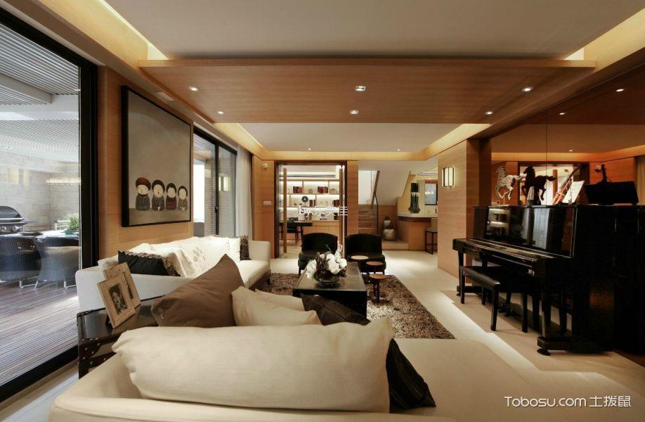 怡侨小区名120平米新中式风格三居室装修效果图