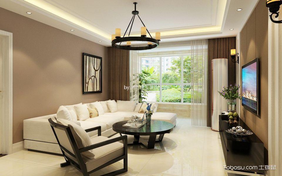 恒大御景半岛130㎡现代风格三居室装修效果图