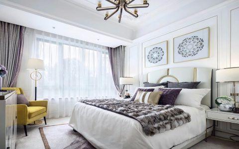 卧室白色细节简约风格装潢设计图片