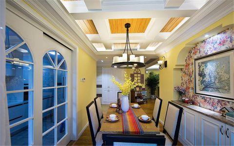 玫瑰绅城100平美式风格三居室装修效果图