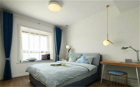 卧室飘窗简约风格装潢图片