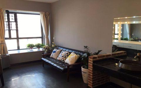 花样年花样城104美式风格三居室装修效果图