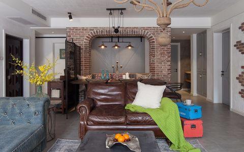 紫金城110平混搭风格三居室装修效果图