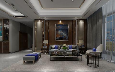 恒大华府136平米现代风格三居室装修效果图