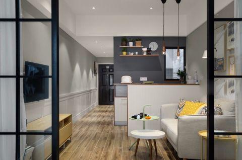 客厅走廊现代简约风格装潢图片