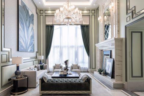 保利西悦湾220平方米简约欧式风格三居室装修效果图