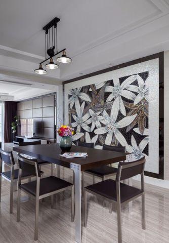 餐厅照片墙新中式风格装潢设计图片