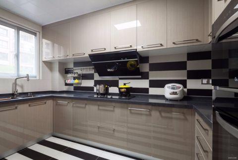厨房橱柜新中式风格装潢效果图