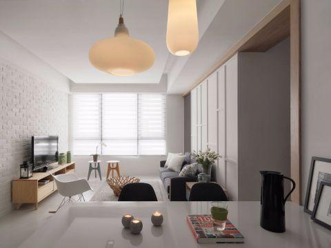 客厅飘窗现代简约风格装饰效果图