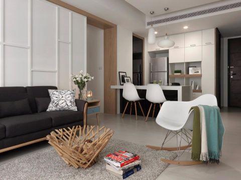 路劲城108平现代风格三居室装修效果图
