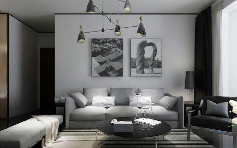 玫瑰湾94平米后现代风格两居室装修效果图