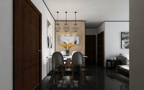 餐厅背景墙后现代风格效果图