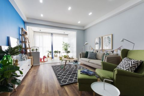 兰陵锦轩150平现代风格3室装修效果图