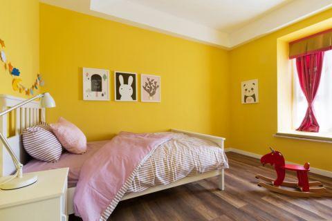 儿童房背景墙现代简约风格装修设计图片