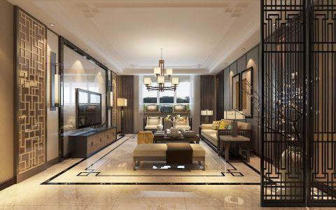 客厅走廊现代中式风格装潢图片
