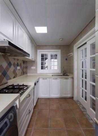 厨房推拉门美式风格装饰设计图片