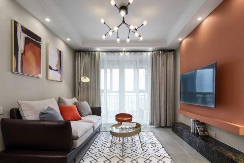 万科城139平现代风格三室装修效果图