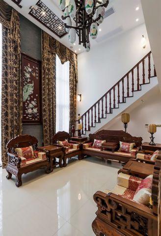客厅细节中式古典风格效果图