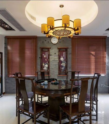 餐厅吊顶中式古典风格装修图片
