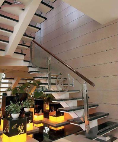 客厅楼梯中式风格装饰设计图片