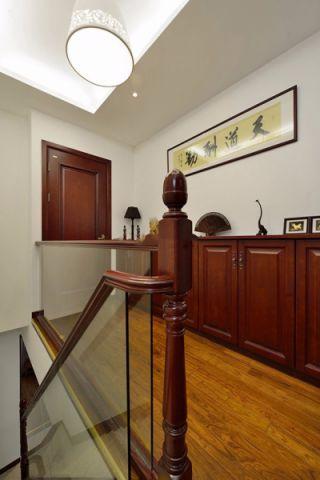 客厅楼梯现代中式风格装修效果图
