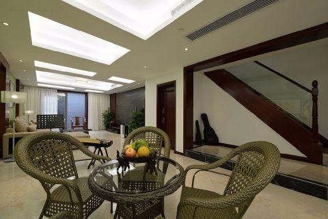客厅走廊现代中式风格装饰效果图