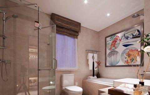 卫生间细节中式风格装潢效果图