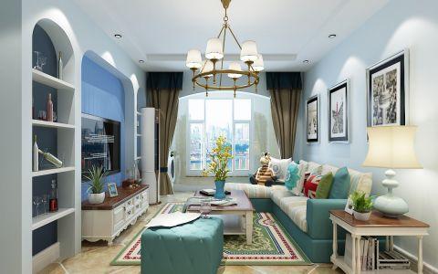 塔谈国际92平米田园风格两居室装修效果图