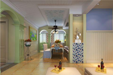 餐厅彩色走廊简欧风格装潢图片