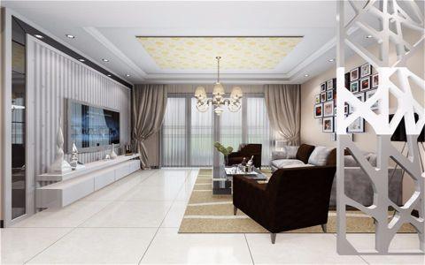 客厅隔断现代风格装修设计图片