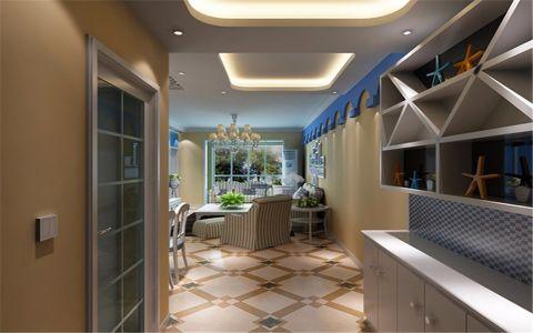 玄关蓝色走廊地中海风格装饰效果图