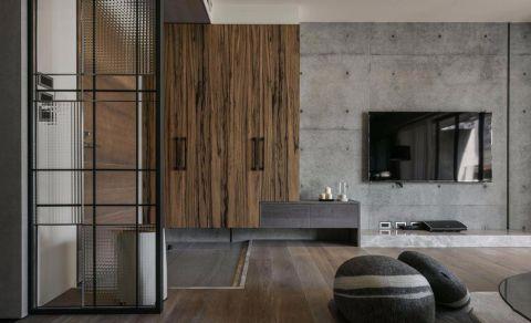 客厅咖啡色地板砖简欧风格装修图片