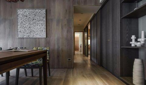 玄关咖啡色走廊简欧风格装修设计图片