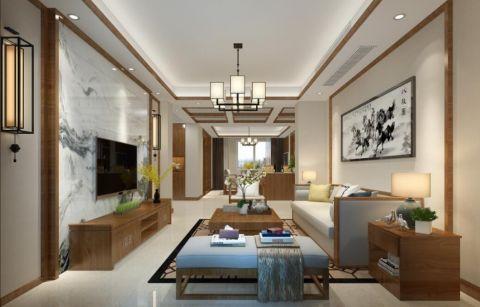 水岸雅苑160平新中式三居室装修效果图