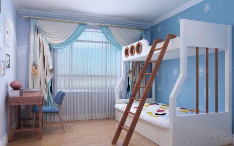 儿童房窗帘美式风格装潢效果图